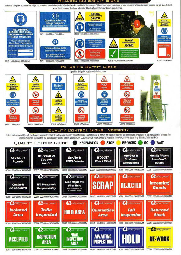 Mandatory Safety Sign Board Fire Safety Signs Board